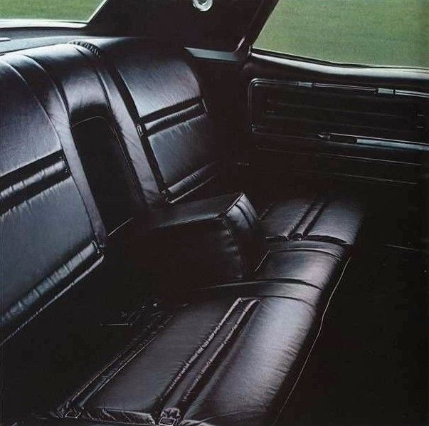 1969 Lincoln Continental Town Car Interior Option Shown In Black