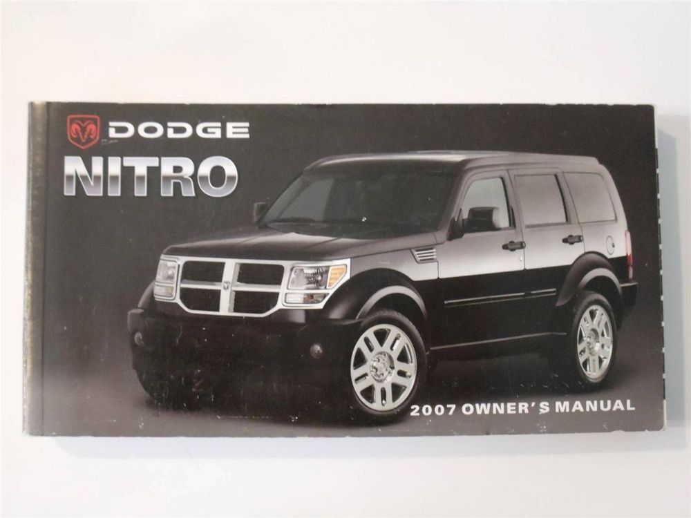 2007 dodge nitro owners manual book owners manuals pinterest rh pinterest com Dodge Nitro Owner's Manual 2007 Dodge Nitro Service Manual