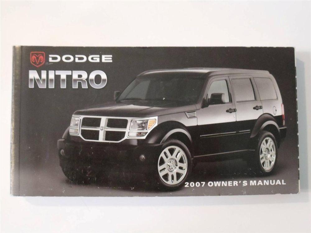 2007 dodge nitro owners manual book owners manuals pinterest rh pinterest com 2007 Dodge Nitro Manual Transmission 2007 Dodge Nitro Service Manual