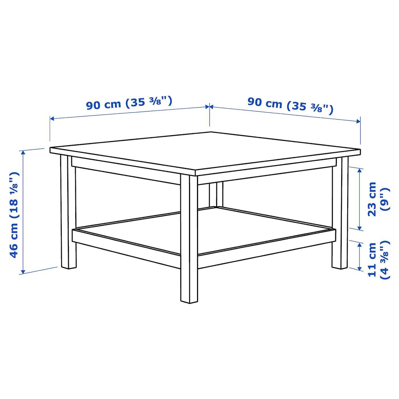 Hemnes Table Basse Brun Clair 90x90 Cm Materiau Durable Ikea Ikea Hemnes Coffee Table Coffee Table White Hemnes [ 1400 x 1400 Pixel ]
