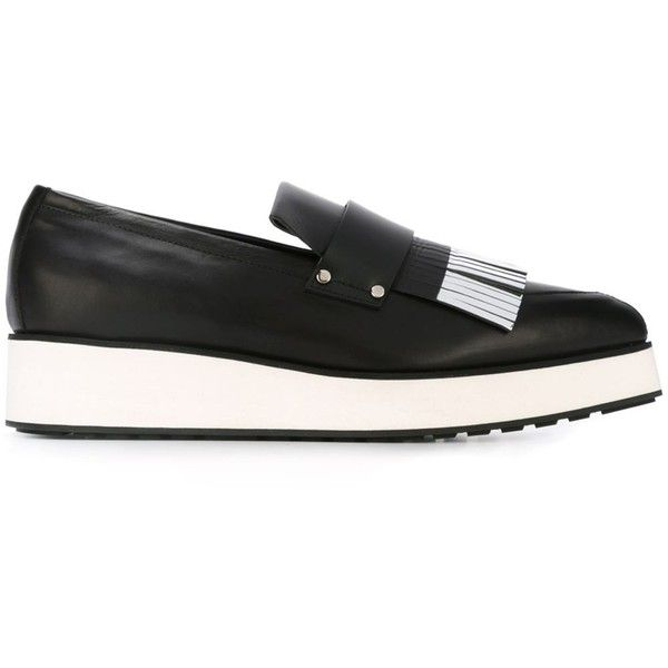 McQ Alexander McQueen Black Fringe Marmont Loafer Heels SGVuzbf