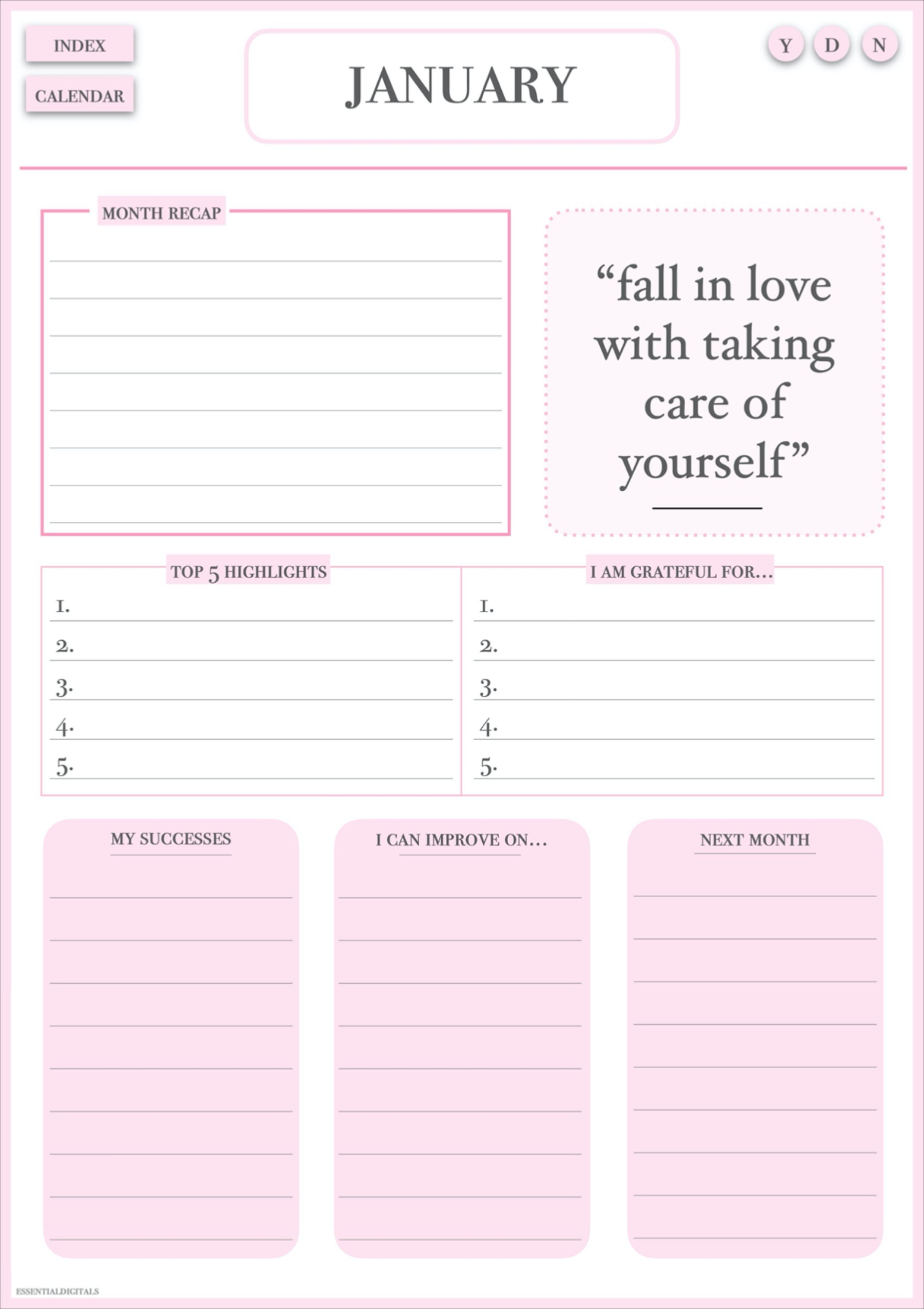 Daily Reflection Journal Self Reflection Goal Planner Digital Inserts Daily Reflection Gratitude Journal Prompts Therapy Journal