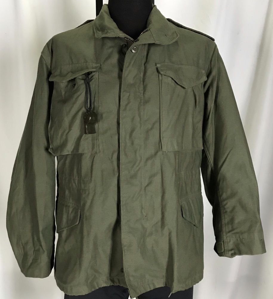 VTG M-65 Liner 70 s Field Jacket 80 s Coat Cold Weather w  Hood Small Short b3a38d0f6cb