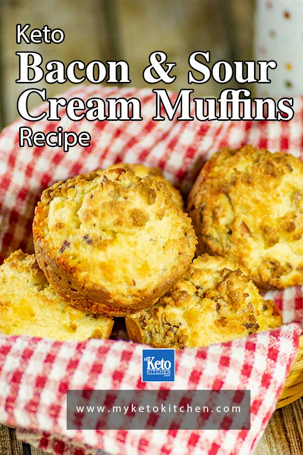 Keto Bacon Sour Cream Muffins These Delicious Breakfast Muffins Are A Healthy Gluten Free B In 2020 Sour Cream Muffins Low Carb Recipes Dessert Diet Breakfast Recipes