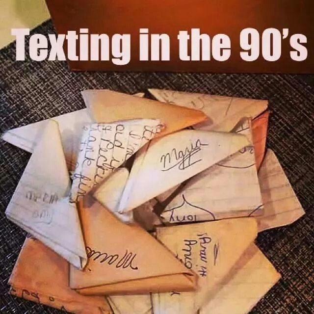 Texting in the 90s
