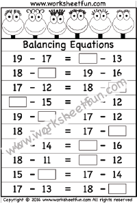 balancing equations one worksheet equations balancing equations printable worksheets. Black Bedroom Furniture Sets. Home Design Ideas