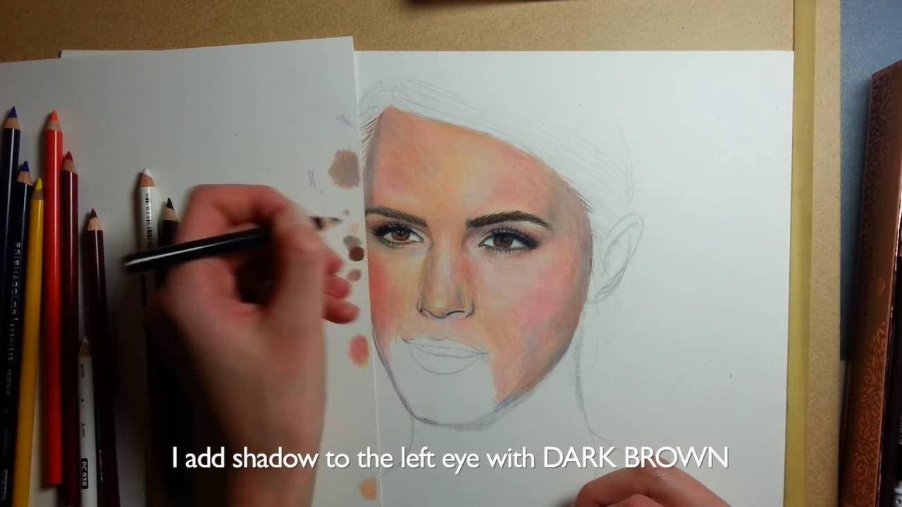 Realistic Portrait Tutorial 12 Set Prismacolor Emma Watson