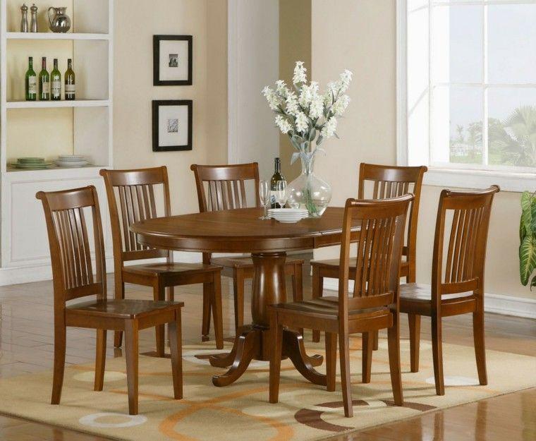 Resultado De Imagen Para Sillas De Comedor De Madera Solid Wood Dining Chairs Dining Room Table Set Dining Room Table