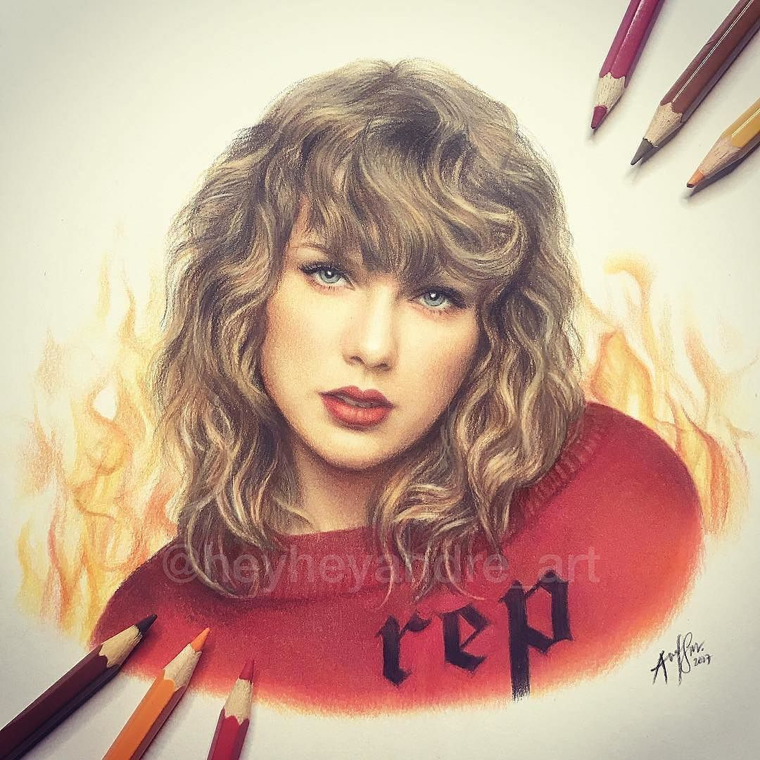 WANT A SHOUTOUT ? CLICK LINK IN MY PROFILE !!! Tag #DRKYSELA Repost from @heyheyandre_art TAYLORdrawn with colored pencils! Please help me tag her! @taylorswift #reputation via http://instagram.com/zbynekkysela
