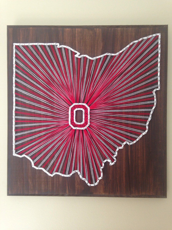 Pin By Jeralyn Predmore On Go Bucks String Art Ohio