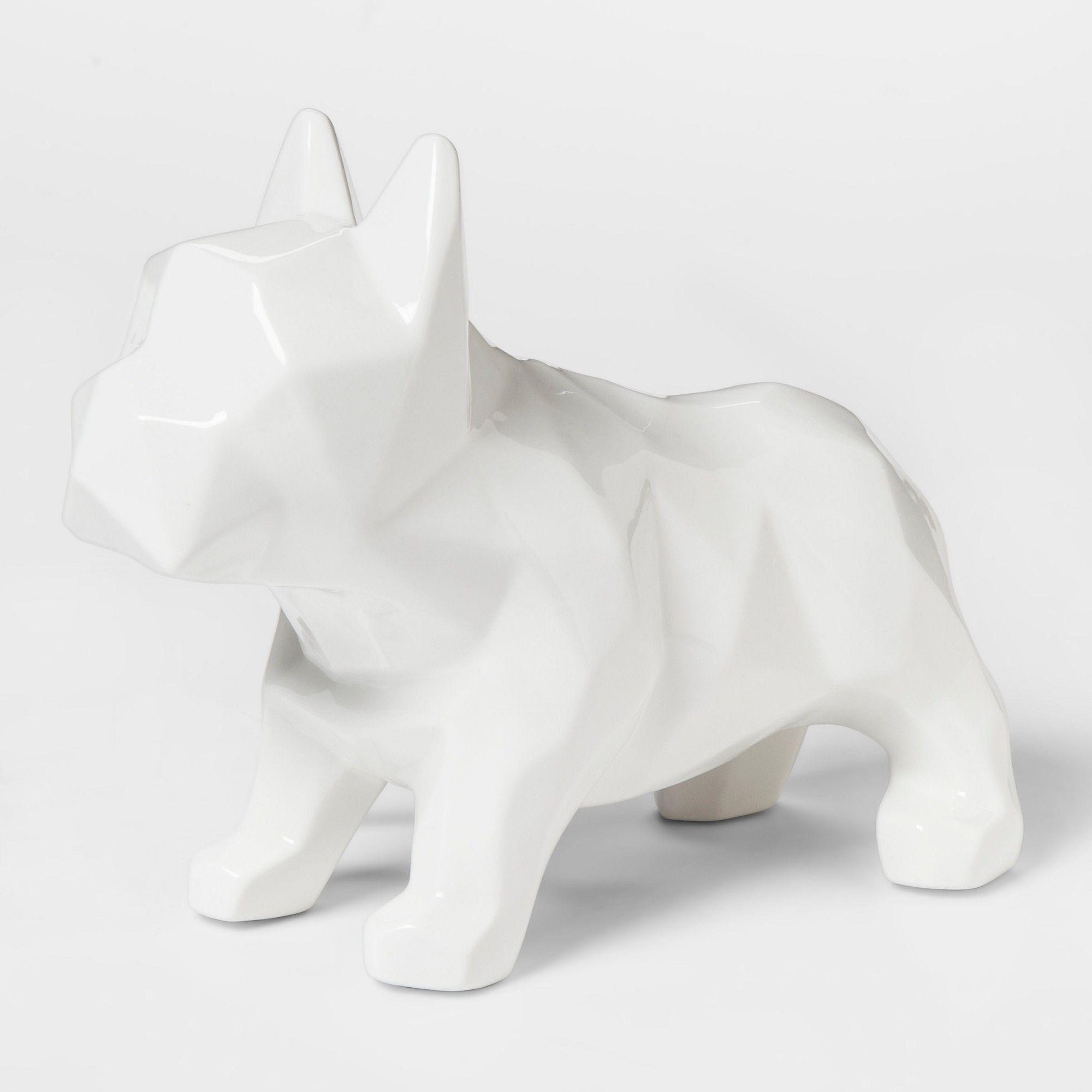 Faceted Bulldog Nightlight Pillowfort White Pillow