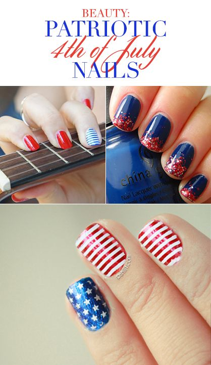 Patriotic Nail Art Ideas For The 4th Of July Nail Art Pinterest