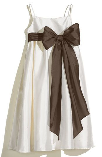 90f8bb15158a9 Us Angels Ivory A-Line Dress with Sash (Toddler