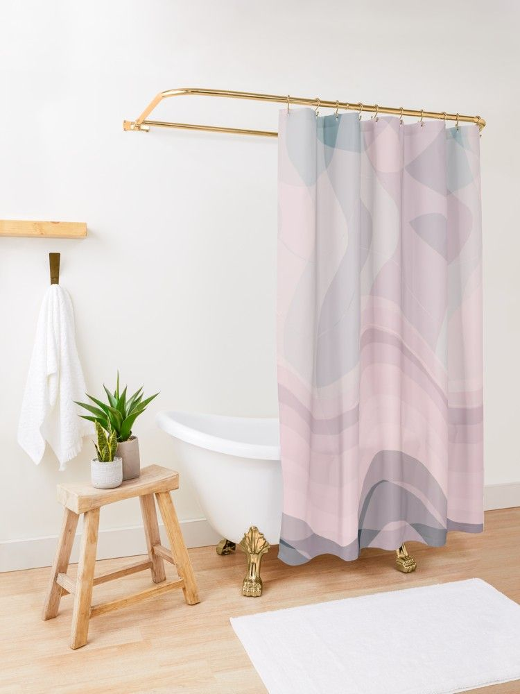 Blush Purple And Blue V Shower Curtain By Blertadk