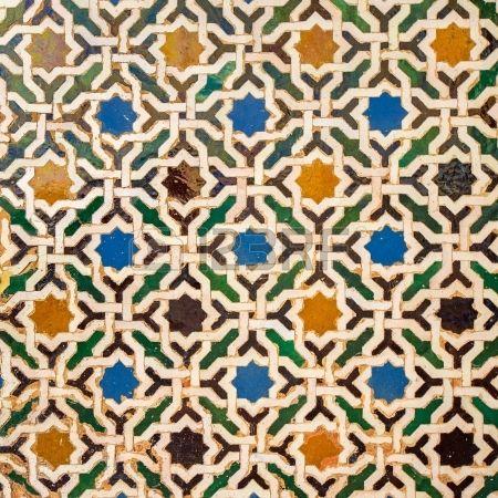 d coration du carrelage palais de l alhambra en espagne banque d images mosquee