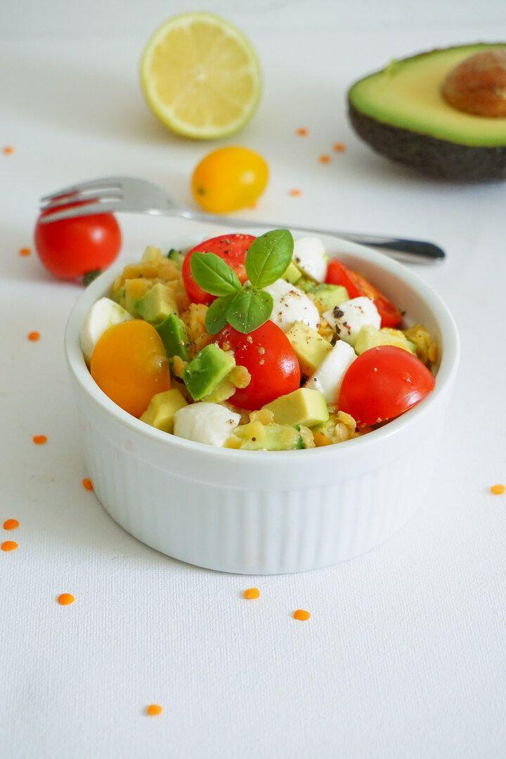 Vegetarischer Linsensalat mit Mozzarella – Gesundes Rezept
