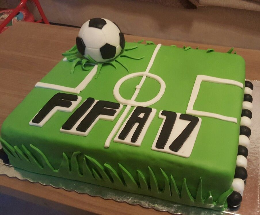 Fifa 17 Football Birthday Cake Fifa Cake Football Birthday Cake