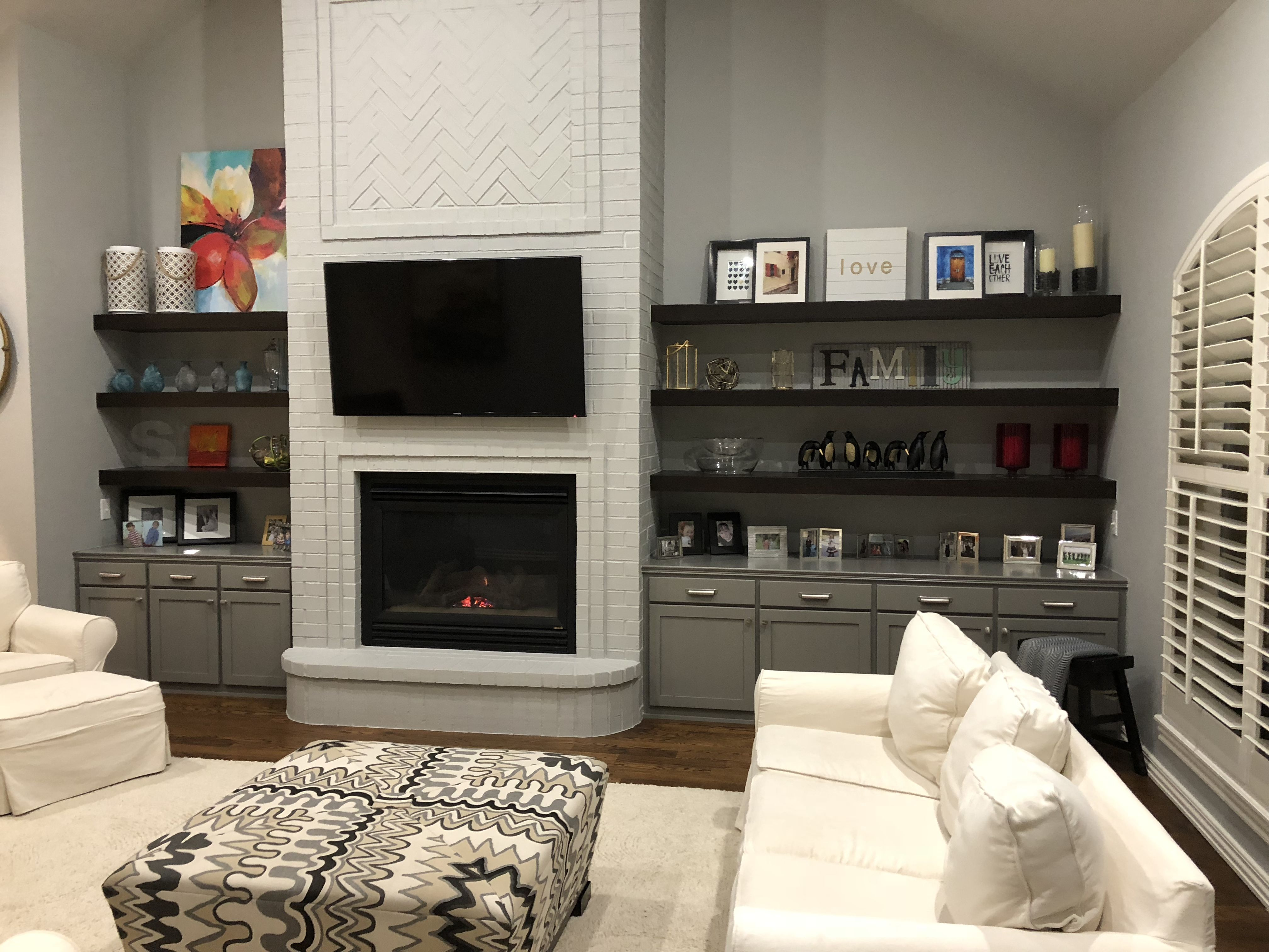 Best Painted Fireplace With Benjamin Moore Coventry Gray Hc 169 400 x 300