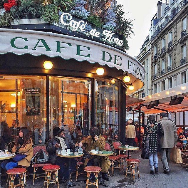 Let's have a break at the Café de Flore. This historic