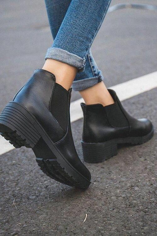 Fashion Women Chelsea Boots Ankle Booties. Fall winter fashion outfits classy chic casual leather edgy shoes. #winterfashion #fallfashion #boots #stre…