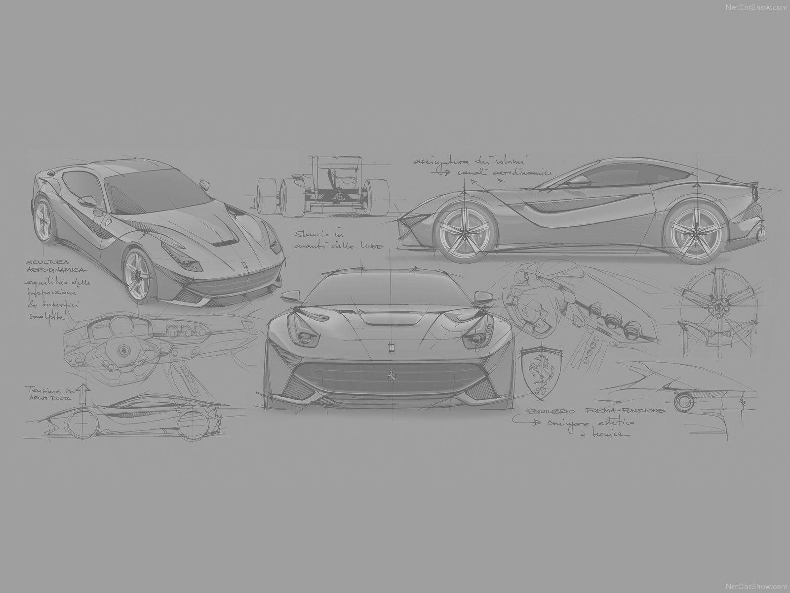 Ferrari F12 Berlinetta Sketches From Netcarshow Ilustracao Desenho
