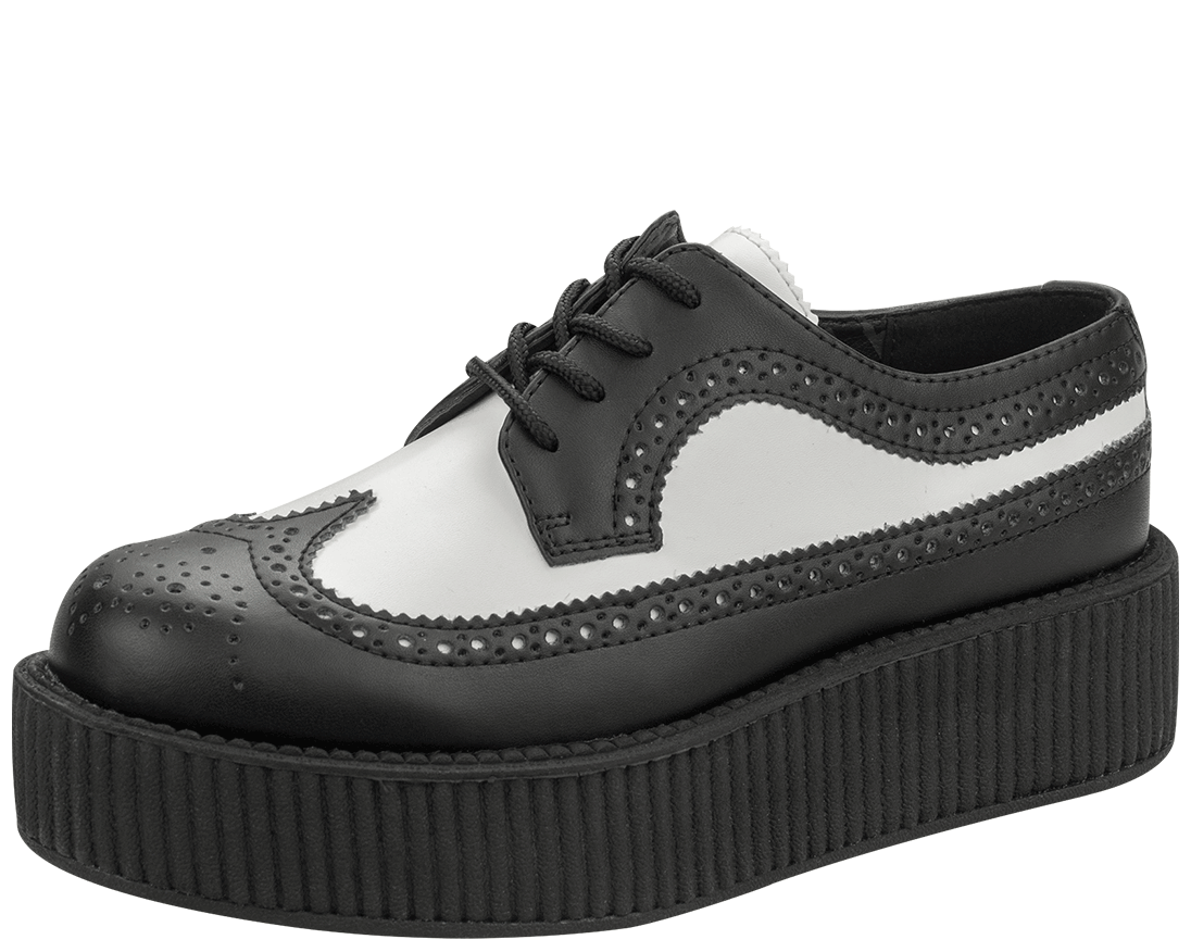 White Wingtip Creepers | T.U.K. Shoes