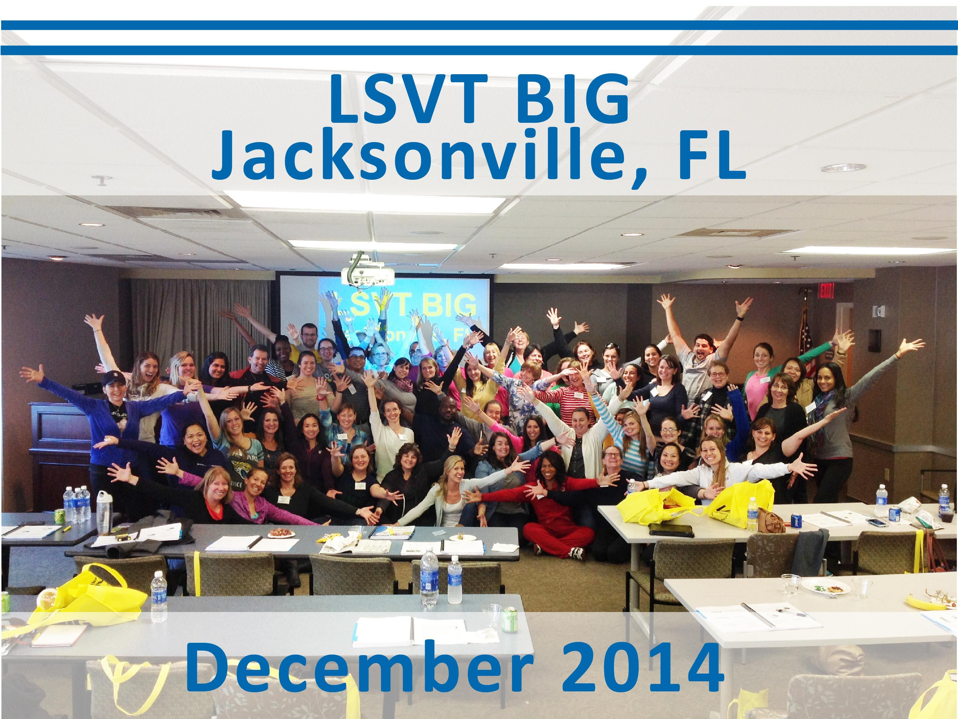 Congratulations To The New Lsvt Big Certified Clinicians From The