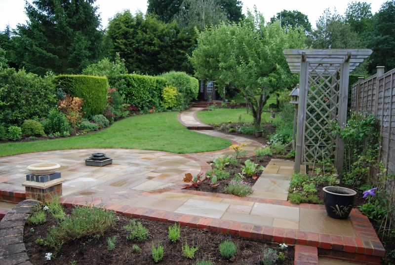 Long Steeply Sloping Garden | Accent Garden Designs ...