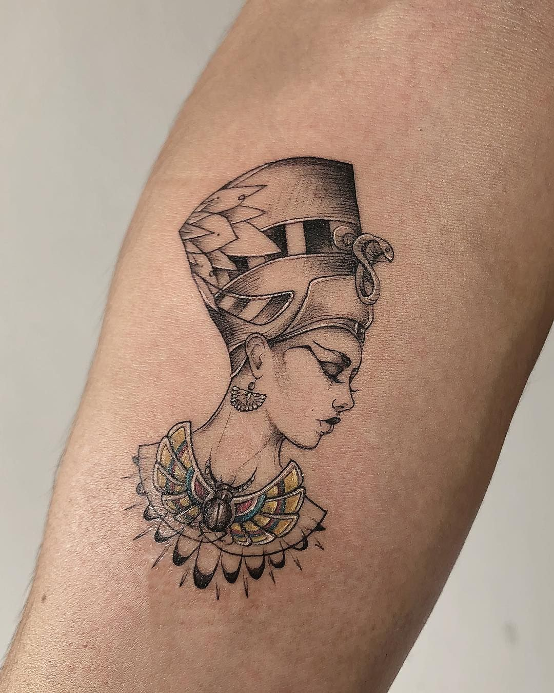 Small Egyptian Tattoos For Females : small, egyptian, tattoos, females, Tattoo, Sleeve, Tattoos, Women,, Nefertiti, Tattoo,