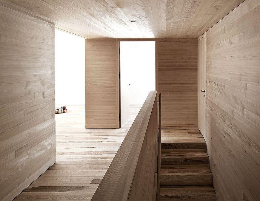 Bernardo Bader Architects Modern Wooden Stairs Pinterest - holzverkleidung innen modern