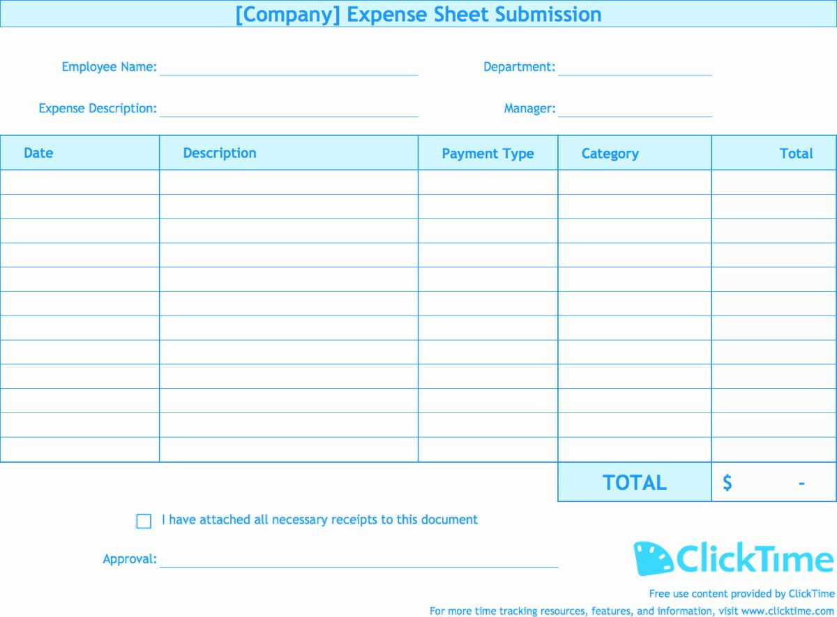 30 Expense Form Template Excel In