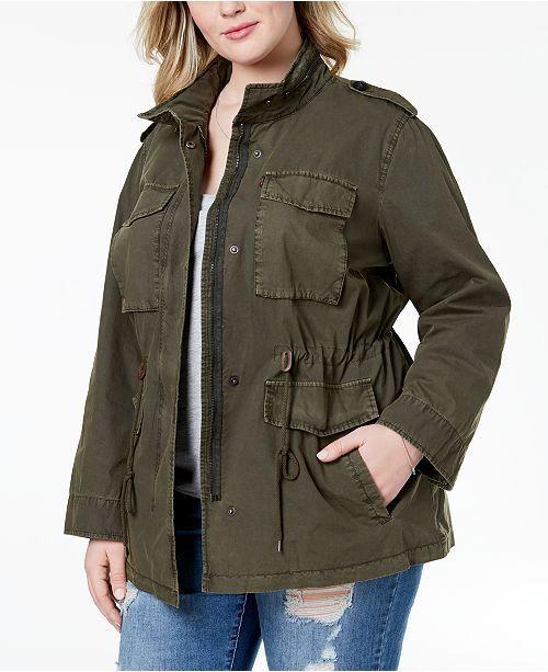 21e3eacd9f7e3 Levi's Plus Size Cotton Utility Jacket & Reviews - Jackets & Blazers - Plus  Sizes - Macy's