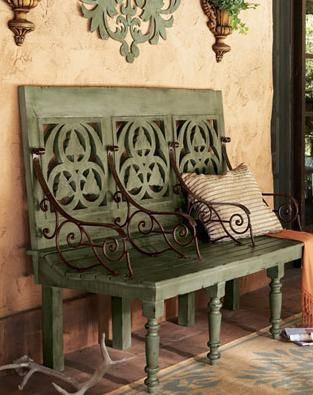 Fabulous Garden Bench French Country Porches In 2019 Bench Pabps2019 Chair Design Images Pabps2019Com