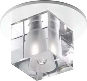 WAC Lighting's Beauty Spots Cube Shade DR-G355-CL shown with DR-301-PT Fixture  Geometric optical crystals create soft striations of light on a ceiling. They make a more subtle lighting statement and blend rather then compete with other lighting in the space. In rooms where the objects are the primary focus of attention these optical crystals add a luxurious touch. DR-G355-CL Beauty Spot Crystal Cube Clear  $31.00 Brand Lighting Discount Lighting - Call Brand Lighting Sales 800-585-1285 to…