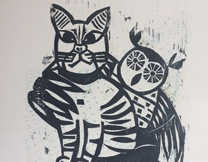 """Check out new work on my @Behance portfolio: """"The Owl and The Pussycat"""" http://be.net/gallery/31454641/The-Owl-and-The-Pussycat"""