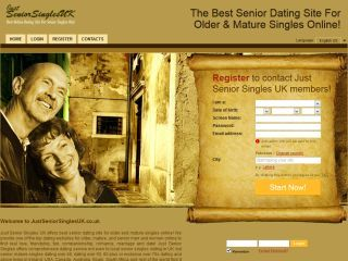 Just Senior Singles UK offers best senior dating site for older and mature singles  online to