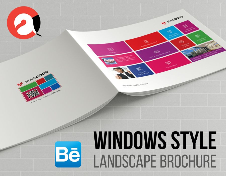 windows brochure template