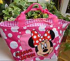 New Pink Minnie Mouse Lunch Bag Handbag Tote Lovely Gift For Kids