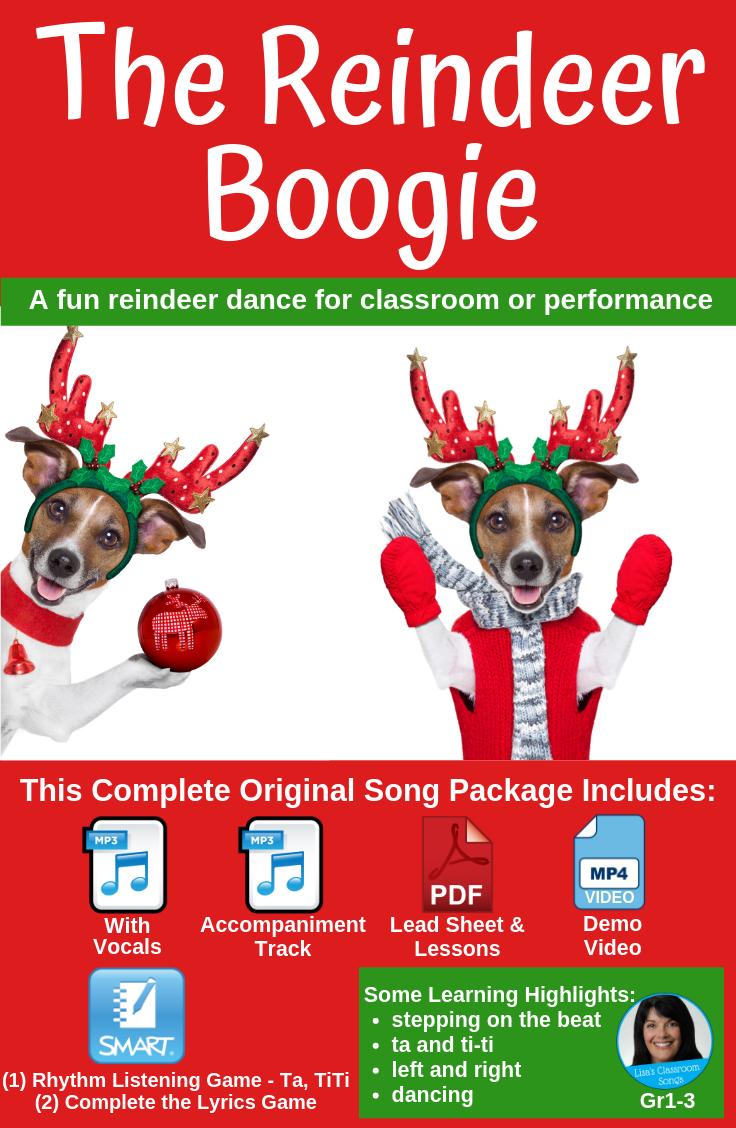 Christmas Song & Dance | Reindeer Song | Holiday | mp3s, PDF, SMART & Video #danceandmovement