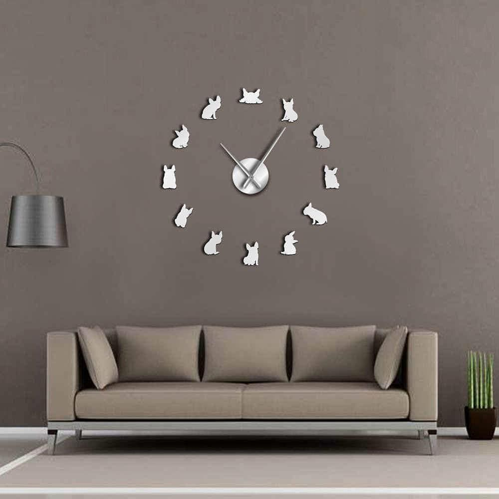 Say Goodbye To The Smaller Conventional Wall Clocks And Welcome This French Bulldog Giant Wall Clock Giant Wall Clock Wall Clock Clock