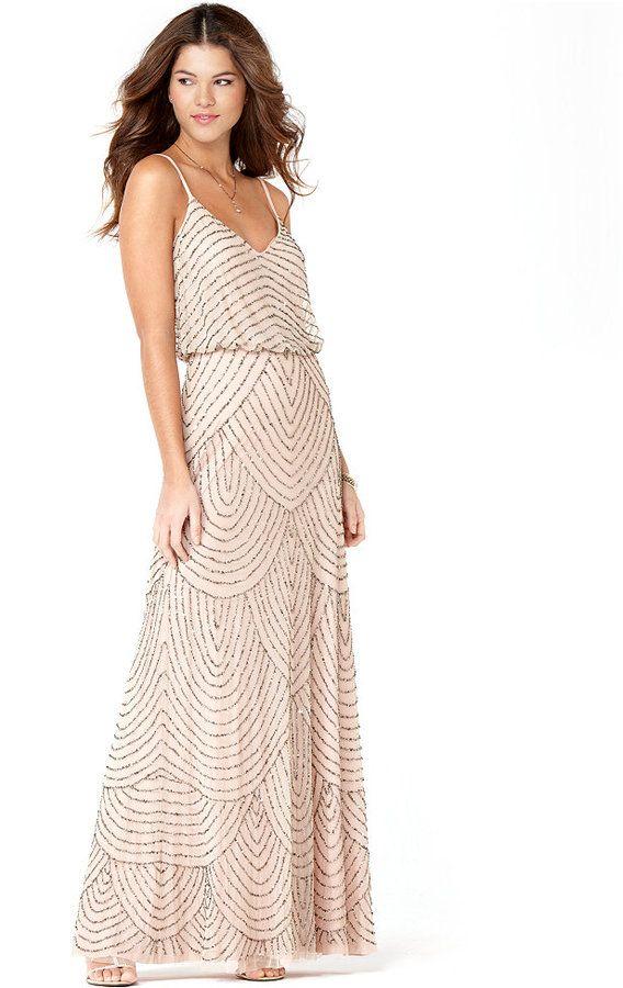 Spaghetti Strap Beaded Dresses
