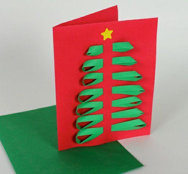Kindern Weihnachtskarten Basteln 3d Effekt 5