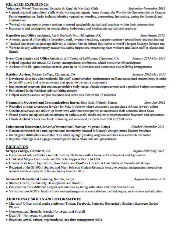 Sample Resident Advisor Resume Examples Resume Cv