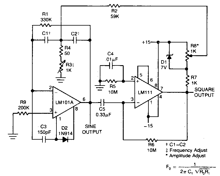 square wave oscillator circuit diagram