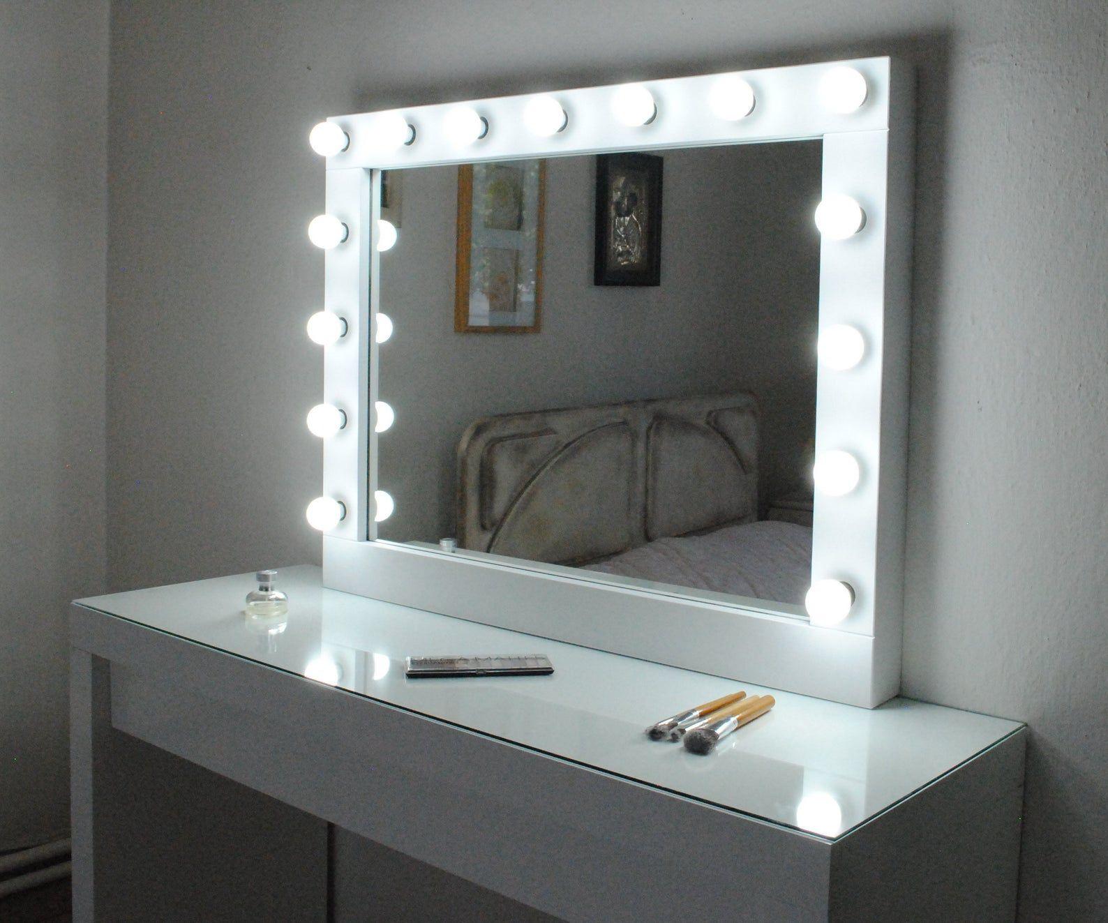 image 0 Hollywood vanity mirror, Lighted vanity mirror
