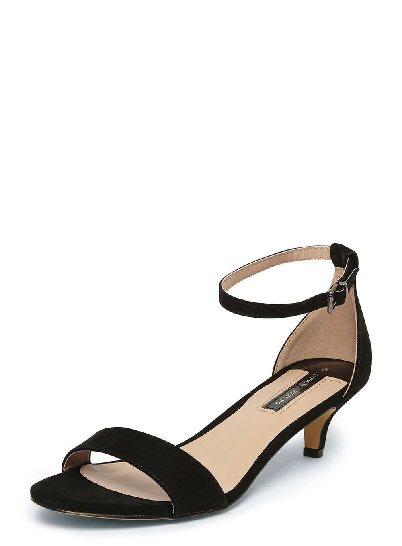 69e450ad4 Black  Sundae  Low Heel Sandals