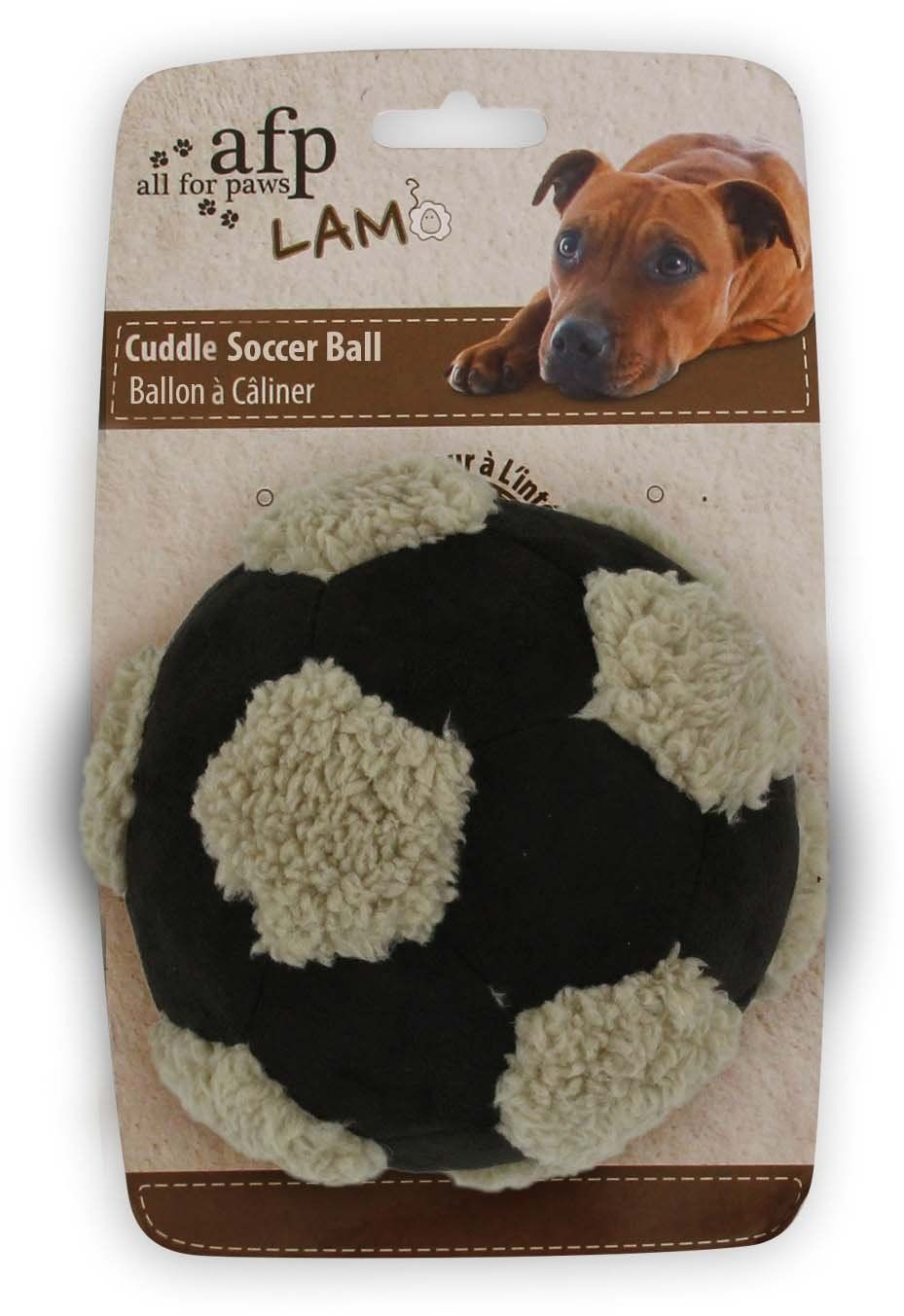 All for Paws Assorted Lamb Cuddle Soccer Ball for Dogs