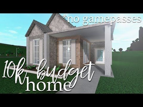 Roblox Bloxburg 10k No Gamepass Home Youtube In 2020 Tiny House Layout Modern Family House Build A House Game