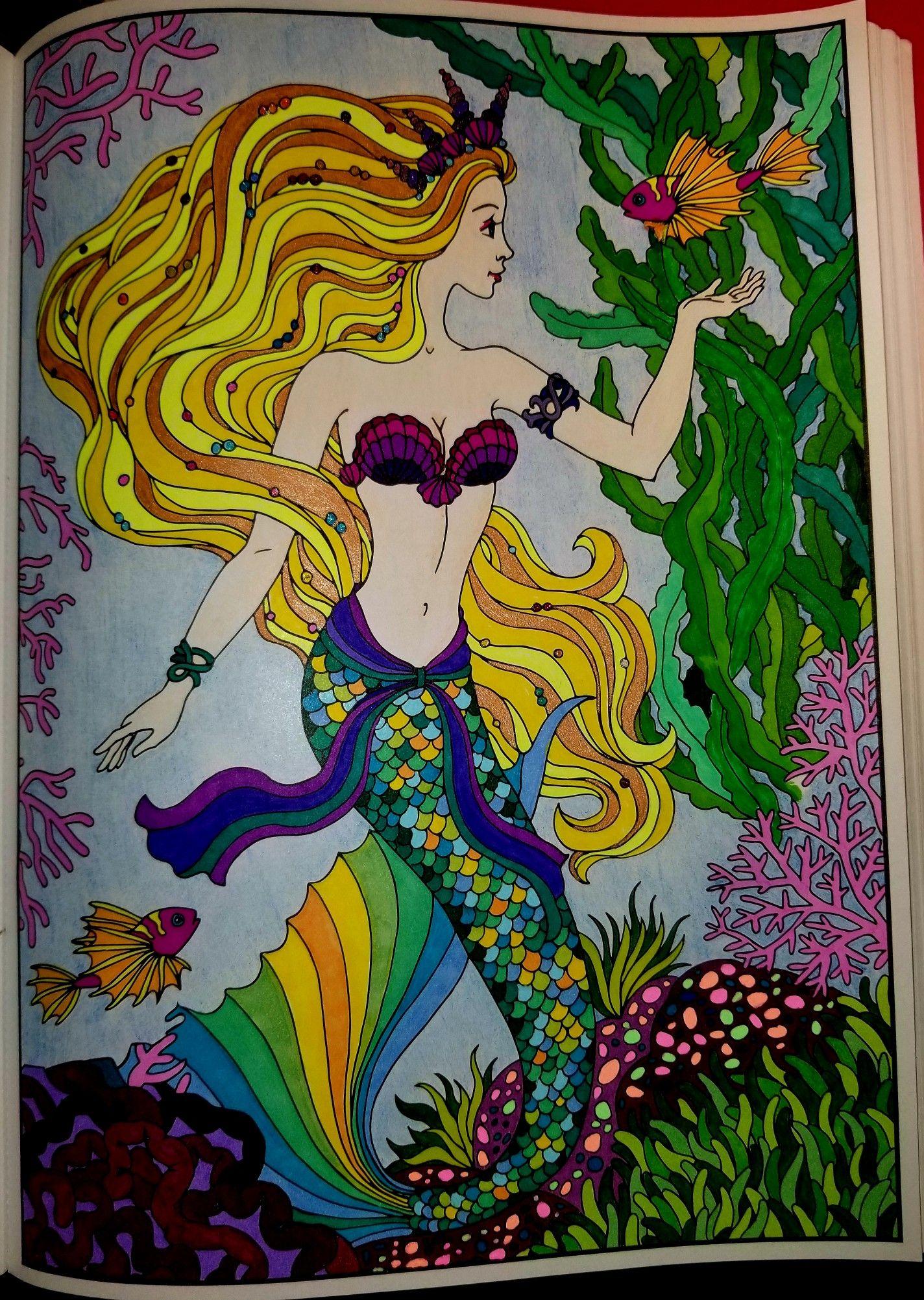 Magical Mermaids Coloring Book Art Mermaid Coloring Book Mermaid Coloring