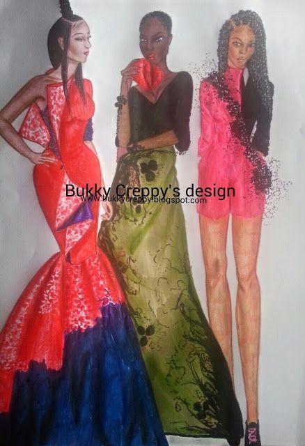 "Paper Fashion Sketches: -""I think fashion is a lot of fun. I love cloths. ..."